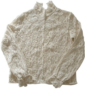 Swildens White Lace Top for Women