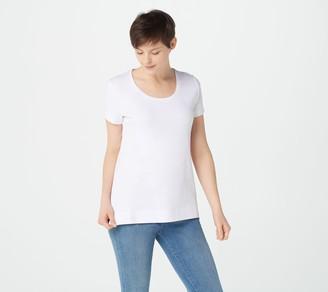 Isaac Mizrahi Live! Essentials Scoop Neck T-Shirt