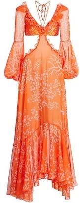 PatBO Coral Print Beach Dress
