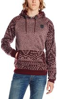 Southpole Men's Marled Pullover Hoodie with Contrast Hood, Sleeves, and Pocket