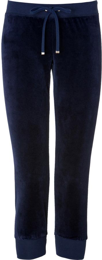 Juicy Couture Velour Slim Crop Pant in Regal