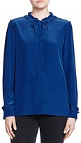 The Kooples Silk Ruffle Detail Shirt