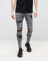 SikSilk Super Skinny Jeans With Distressing
