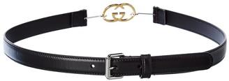 Gucci Interlocking G Buckle Leather Belt