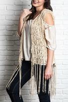 Umgee USA Sleeveless Fringe Vest