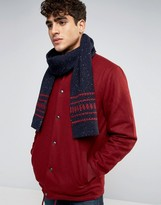 Jack Wills Lambswool Fairisle Scarf In Navy