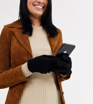 My Accessories London Exclusive black touch screen gloves
