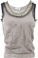 Lanvin Crinkle Tank With Sequins