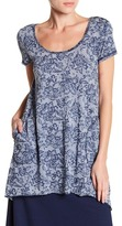 Allen Allen Short Sleeve Printed Pocket Tunic