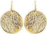 Nest Hammered Gold Disc Earrings