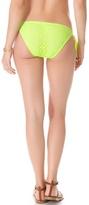 Shoshanna Neon Yellow Crochet String Bikini Bottoms