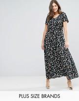 Yumi Plus Maxi Dress In Small Floral Print
