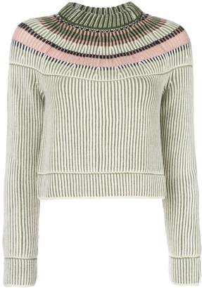 M Missoni cropped ribbed knit sweater
