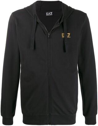 Emporio Armani Ea7 printed logo hoodie