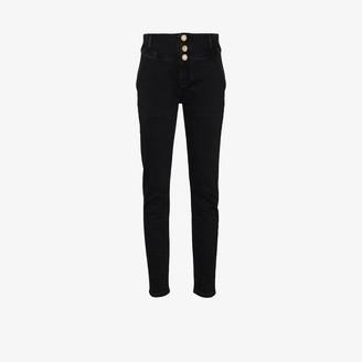 Alessandra Rich Crystal-Embellished Jeans