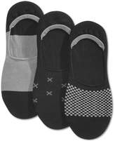 Bar III Men's 3 Pack Patterned Mini-Check Sock Liners, Created for Macy's