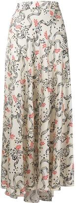 Paco Rabanne Maxi-Rock floral-print skirt