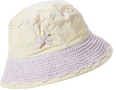 Boardwalk Style Women's Cloches Lavendar - Lavender & Yellow Floral Embroidered Bucket Hat