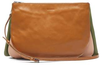 Jil Sander Colour-block Leather Cross-body Bag - Womens - Tan