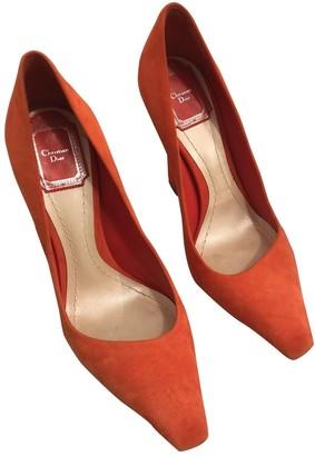 Christian Dior Orange Suede Heels