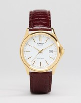 Casio Analogue Leather Watch In Brown MTP1183Q-7A