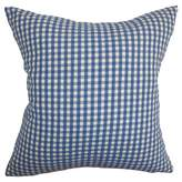 "The Pillow Collection Blue Gingham Throw Pillow (18""x18"")"