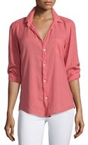 Frank And Eileen Barry Long-Sleeve Voile Shirt, Red