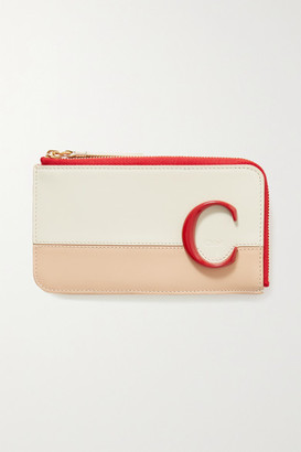 Chloé C Color-block Leather Cardholder - White