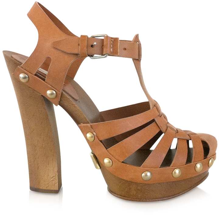 Marc Jacobs Leather Sandal Clogs