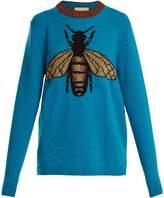 Gucci Bee-jacquard wool sweater