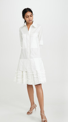 Lee Mathews Elsie Ruffle Hem Dress