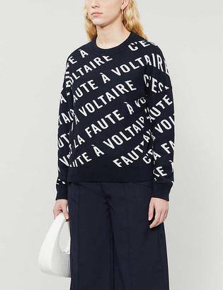 Zadig & Voltaire Logo-print cotton-knit jumper