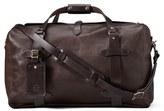 Filson Men's Weatherproof Leather Duffel Bag - Brown