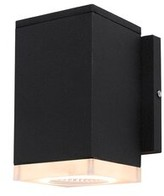 "Bronx Grimes LED 2-Light Outdoor Flush Mount Ivy Fixture Color: Black, Size: 6"" H x 3.5"" W x 4.7"" D"