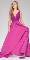 Jovani Illusion Beaded V-back Evening Dress