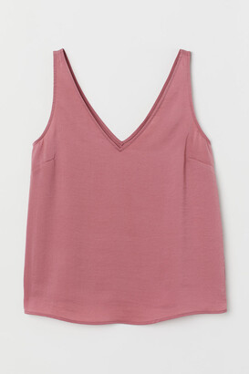 H&M V-neck satin vest top
