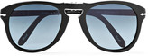 Persol Steve McQueen Folding D-Frame Acetate Polarised Sunglasses, Size 54