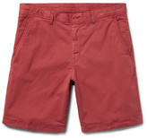 Michael Kors Slim-Fit Garment-Dyed Stretch-Cotton Twill Shorts