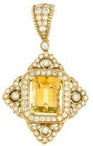 Penny Preville 18K Yellow Beryl & Diamond Pendant