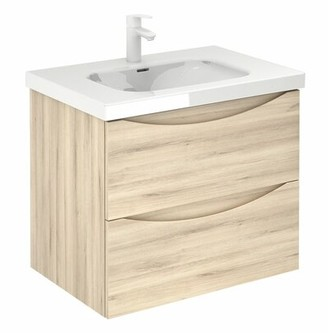 "Brilliant Love 2 Drawer 28"" Wall-Mounted Single Bathroom Vanity Set Corrigan Studio"