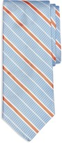 Brooks Brothers Textured Ground Alternating Stripe Classic Tie