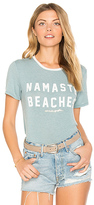 Spiritual Gangster Namaste Beaches Zen Tee in Slate. - size M (also in S,XS)