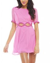 AX Paris Pink Sequin Cutout Dress