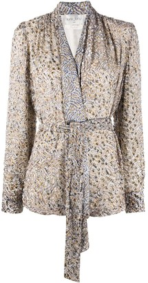 Forte Forte Abstract-Print Belted Blouse