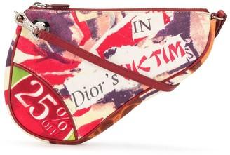 Christian Dior pre-owned Victim rhinestone-embellished Saddle bag