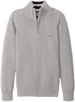 Tommy Hilfiger Edward 1/2 Zip with Rib Stitch Sweater (Big Kids)