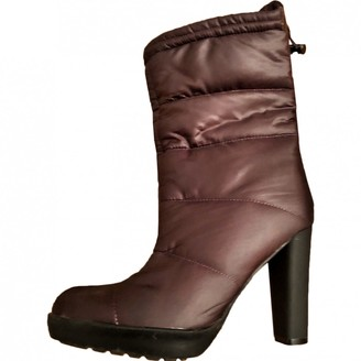Calvin Klein Brown Rubber Ankle boots