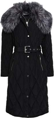 MICHAEL Michael Kors Faux Shearling-trimmed Quilted Shell Coat