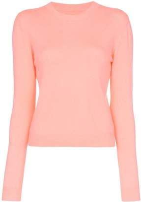 The Elder Statesman pink Billy cropped knitted cashmere jumper