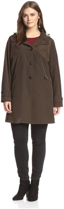 Jane Post Plus Women's Button Front Swing Coat